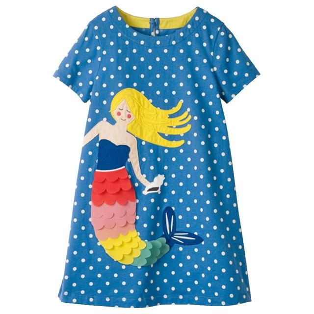 Meninas Vestidos de Verão Vestido Bordado Para Crianças 2018 Crianças Se Vestem Meninas Princesa Vestido de Festa para crianças Roupas Para A Idade 2-10Year