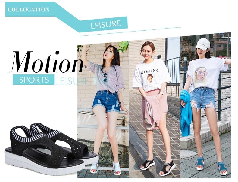 HTB1IDyIRrvpK1RjSZFqq6AXUVXah ZUNYU New 9 colors Woman Flat Summer Shoes Fashion Women's Sandals Wedge Comfortable Sandals Ladies Sexy Sandals Plus Size 35-45