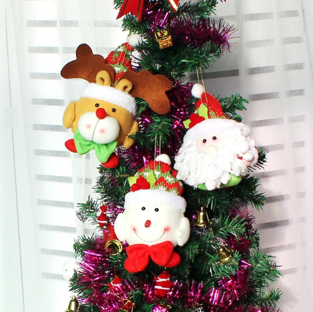 Christmas tree hanging decorations new parachute santa claus snowman - 2017 Merry Christmas Santa Claus Doll Pendants Christmas Tree Decoration Hanging Ornaments Craft For Home Decor Supplies Snowman