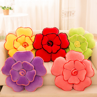 3D Plush Toys Rose Pillow Home Sofa Cushions Patchwork Flower Cusions Pillow Wedding Party With Filling