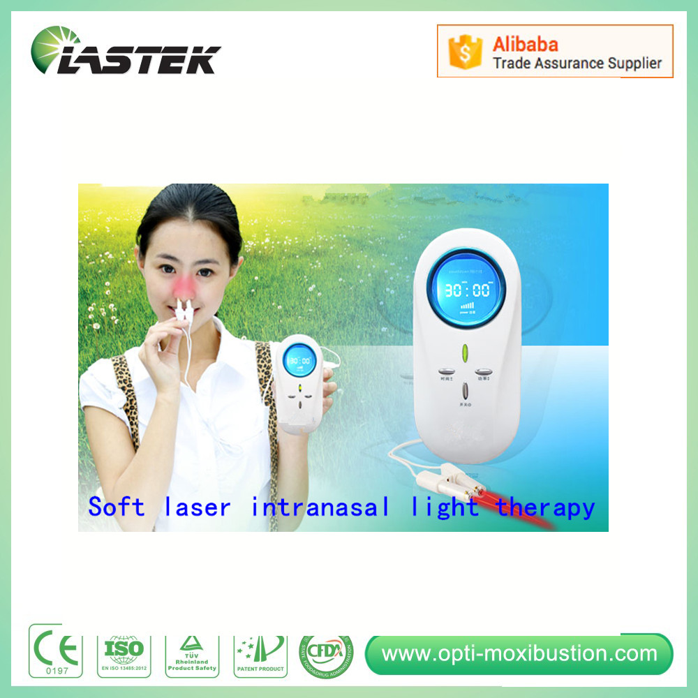 Physical therapy nasal type 650nm cold laser therapeutic apparatus for rhinitis pain relief cold laser therapeutic instrument 650nm diode laser laser physical therapy equipment