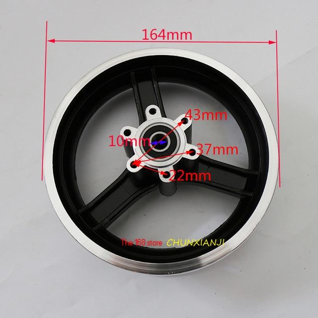 نوعية جيدة 10 بوصة سكوتر كهربائي محور عجلات 10 بوصة جنوط عجلات سبائك الألومنيوم 10x2 10x2.125 10x2.50 10x2.25 الإطارات الحافات