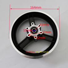 Cubo elétrico da roda de scooter 10 polegadas, boa qualidade, liga de alumínio, jantes 10x2 10x2.125 10x2.50 10x2.25 jantes de pneus