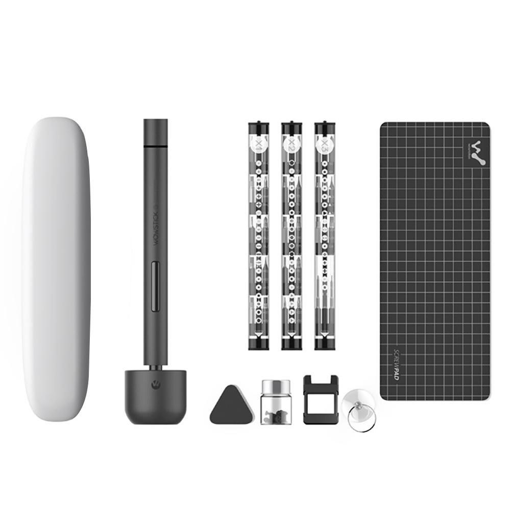 Wowstick 1F Pro Mini Cacciavite Elettrico Ricaricabile Cordless Power Screw Driver Kit Con La Luce del LED Batteria Al Litio Operato