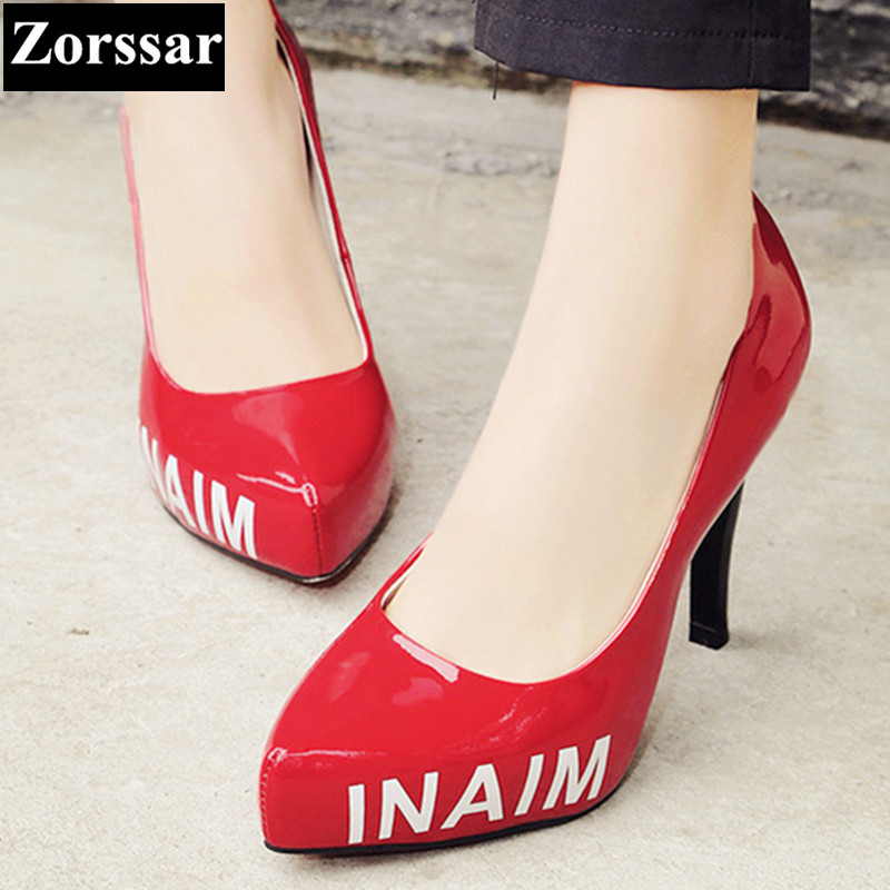 Genuine leather Womens shoes high heels pointed toe platform pumps women Wedding shoes 2017 NEW Sexy thin heel shoes woman bowknot pointed toe women pumps flock leather woman thin high heels wedding shoes 2017 new fashion shoes plus size 41 42
