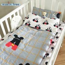 Nouveau Arrivé Chaude Ins lit lit 100% cottotton 3 pcs bébé ensemble de Literie inclure taie d'oreiller + drap de lit + housse de couette sans remplissage