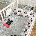 New Chegou Hot Ins cottotton 3 pcs Fundamento do bebê berço cama 100% set incluem fronha + lençol + capa de edredon sem enchimento
