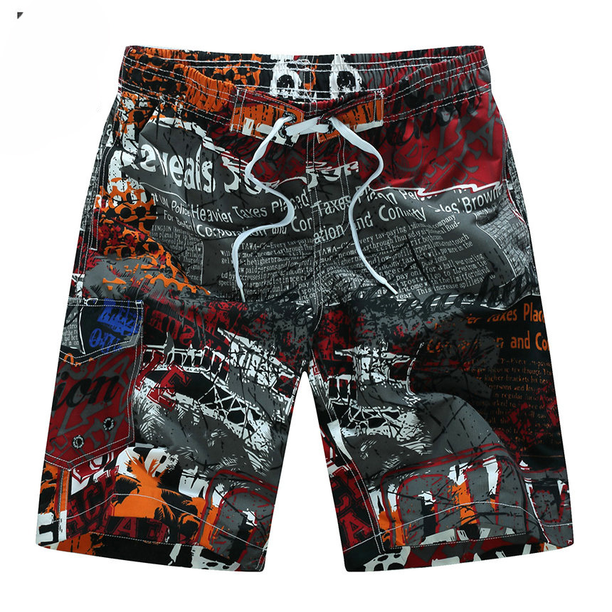 Summer Style 2019 Men Shorts Beach Short Breathable Quick Dry Loose Casual Hawaii Printing Shorts Man Plus Size 6XL
