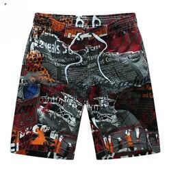 Shorts masculinos de verão, shorts de praia curto, respirável, secagem rápida, solto, casual, impressão do havaí, tamanhos grandes 6xl, 2020