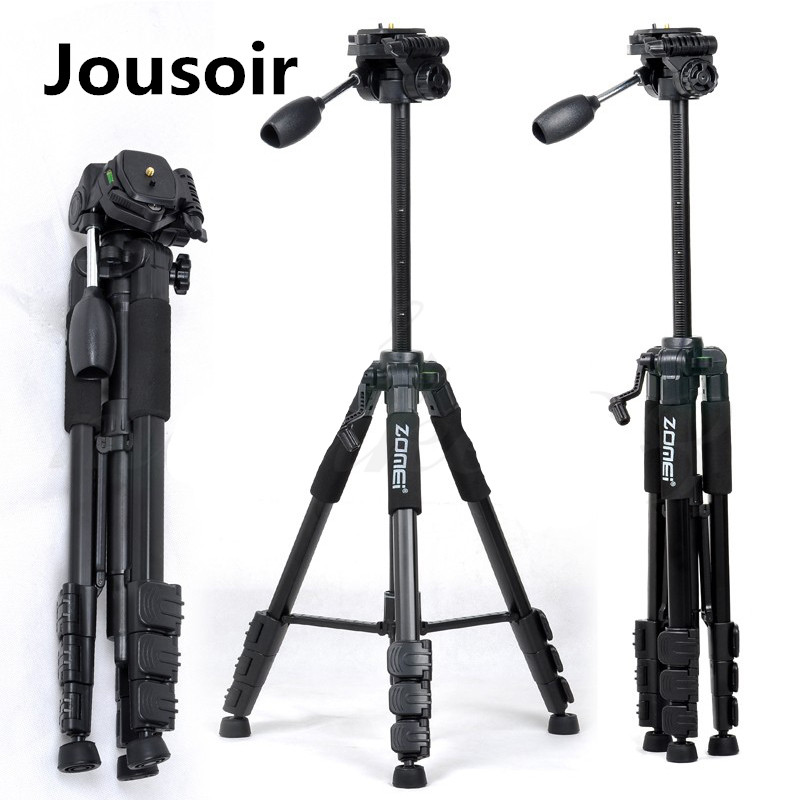 Tripod Z666 Professional Portable Travel Aluminium Camera Tripod Accessories Stand with Pan Head CD50