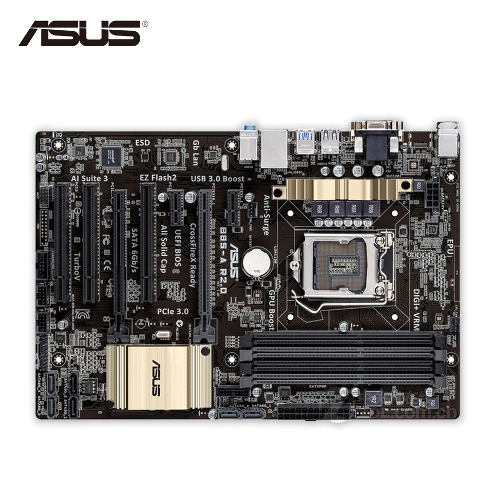 Original Used Asus B85-A R2.0 Desktop Motherboard B85 Socket LGA 1150 i7 i5 i3 DDR3 32G SATA3 USB3.0 ATX 100% Fully Test srb na r c 20 24v used one 85