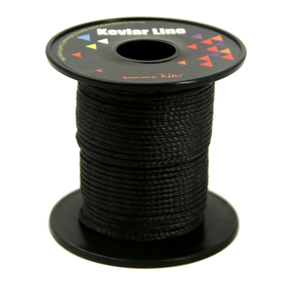 50ft 1200lb Black Kevlar Kite Line String Braided Fishing Line Outdoor Sport Hunting Camping Hiking Rope Cord 4mm 3960lb fishing rope braided fishing line accessories 15m uhmwpe safety survival utility cord large kite line string