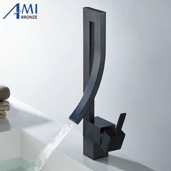 Basin faucet Creative fashion Chrome/Black/Nickel Brushed Brass Bathroom Hot Cold Mixer Faucet Sink Basin Mixer Tap 9060B