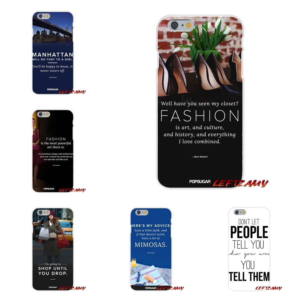 Awesome Gossip Girl Quote Slim Silicone phone Case For iPhone X 4 4S 5 5S 5C SE 6 6S 7 8 Plus