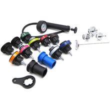 18pcs Universal Radiator Pressure Tester andWater Tank Leak Detector Car Cooling System Kit coolant pressure tester kit Diag