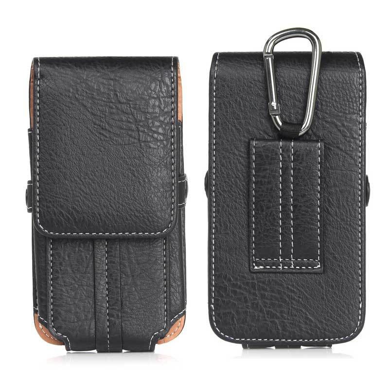 Universal Leather Pouch Hip Waist Wallet Mobile Phone Bag For iPhone Outdoor Belt Bag For Galaxy J3 J5 J7 A3 A5 2017 S8