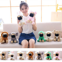 Stuffed Simulation Dogs Plush Sharpei Pug Lovely Puppy Pet Toy Plush Animal baby Toy Children Kids Birthday Christmas Gifts цены