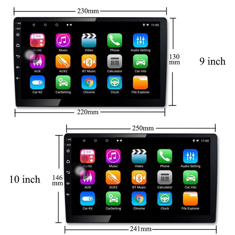 Image 5 - Универсальный 10 дюймов/9 дюймов 2din Android 8,1 автомобиль радио 1080P touch gps навигации Bluetooth wifi SWC RDS FM AM Зеркало Ссылка OBD 2-in Мультимедиаплеер для авто from Автомобили и мотоциклы