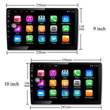 10 inch & 9 inch RDS Radio 2din Android 8.1 universal 1G+16G Car stereo 1024x600 screen GPS Mirror Link Bluetooth wifi FM AM SWC