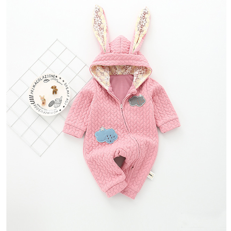 Winter Warm Clothes for Baby Boys Girls Bodysuit Thick Cotton Infant Jumpsuit Onepiece Newborn Clothes
