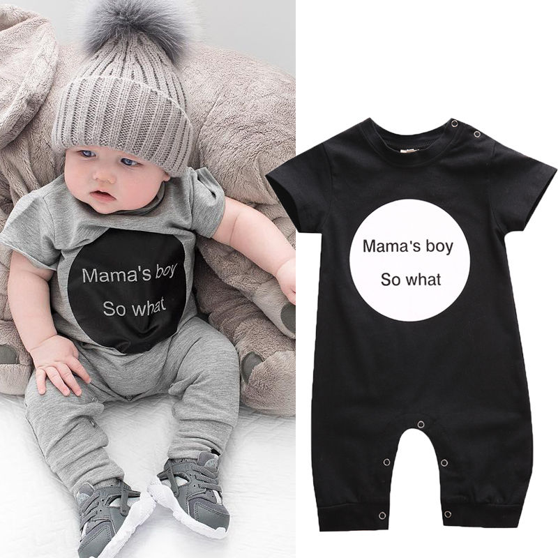 Infant Kid Baby Girl Boy Clothes Cotton Bodysuit Romper Jumpsuit Playsuit Outfit