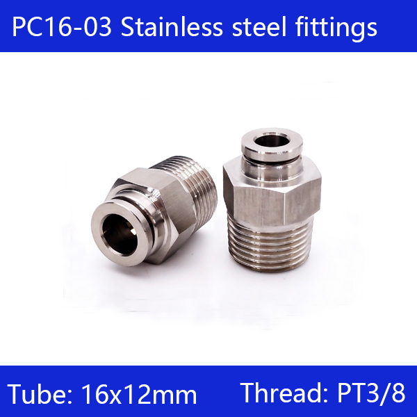 Free shipping 10 pcs/lot 16mm to 3/8 PC16-03,304 Stainless Steel Straight Male Connector Free shipping 10 pcs/lot 16mm to 3/8 PC16-03,304 Stainless Steel Straight Male Connector