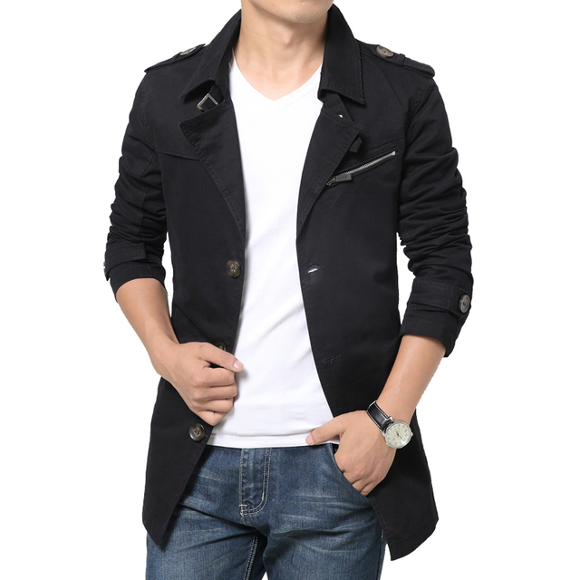 Fashion Autumn jacket turn-down collar slim fit design Casual Solid Men's Jackets men coat Asian size clothes FY635