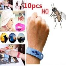 Pulsera Anti mosquitos de 10 piezas Mozzie insectos Bugs repelente muñequera repelente seguro para niños hogar rechazo al aire libre de plagas
