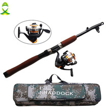 JSM Fishing Reel And Rod Set with Spinning Reel and 2.1m Telescopic Fishing Rod Combo with fishing bags Fishing Tackle
