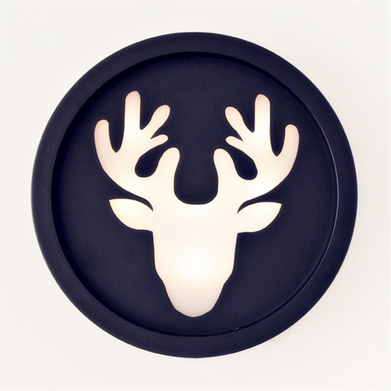 Original led wall lamp carving Painted stainless steel Deer Design Lamp 26cm Countryside Lights sconce Bedside lamp ZBD0042 mds89664h steel bedside commode