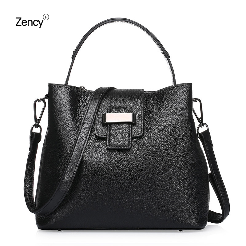 ZENCY Small Bags Handbags Famous Luxury Brand Bags Soft Genuine Leather Women Handbag Tote Shoulder Messenger Bag 3 sizes zency bags handbags famous brands real genuine leather women handbag lady tote shoulder messenger bag