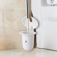 ABS Home Bathroom Toilet Brush Closet Bowl Cleaning And Holder Set Bathroom Accessories Assembled Tools
