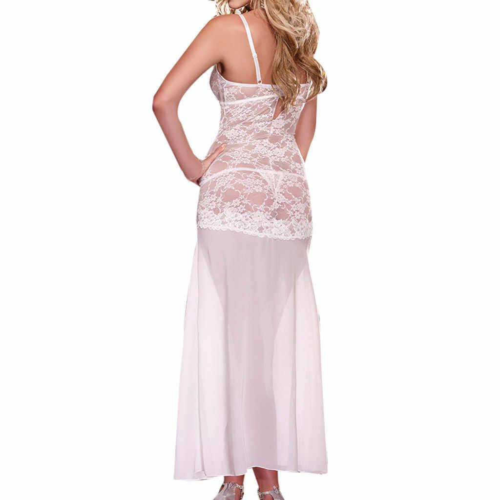 סקסי נשים הלבשה תחתונה ארוטית פיג 'מה נקבה babydoll שינה שמלת דק הלטר ללא משענת למבוגרים תחפושות ללא משענת H4
