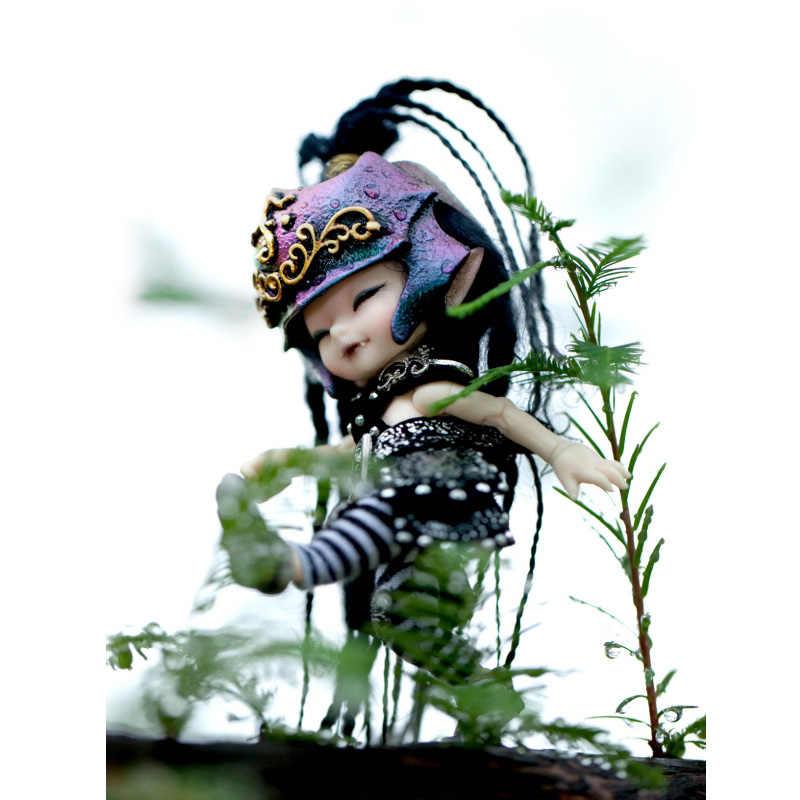 구체관절 인형 무료 배송 fairyland realpuki 1/13 bjd 인형 핑크 스마일 엘프 장난감 소년 소녀 생일 선물