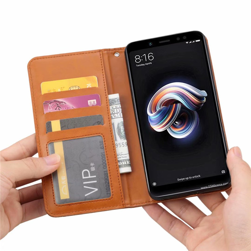 Wallet Credit Card Slot Flip Cover Leather Case For Xiaomi Mi 8 Anti knock Phone Cases in Wallet Cases from Cellphones Telecommunications