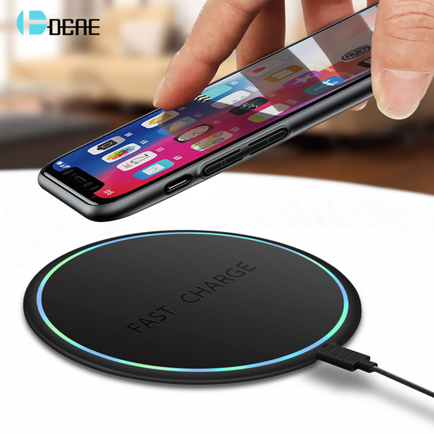 DCAE Qi Wireless Charger Charge Quick 3.0 Pad de încărcare rapidă 10W pentru iPhone 11 X XR XS 8 Samsung S10 S9 S8 Xiaomi Mi 9 MiX 3 2S
