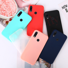 Para Xiaomi rojo mi nota 7 caso mi nota 6 Pro rojo mi nota 5 funda de Color caramelo de silicona TPU caso para Xiaomi mi 8 Lite mi 9 caso iPhone