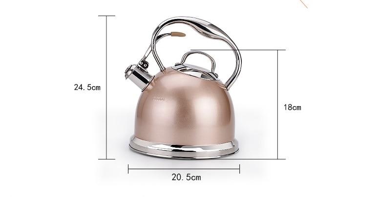 304 rvs verdikte ketel fluitje binnenlandse hot water ketel gas inductie kookplaat gas ketel Water fluitje - 6