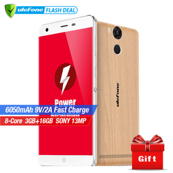Ulefone Power Mobile Phone 5.5 Inch FHD MTK6753 Octa Core Android 6.0 3GB RAM 16GB ROM 13MP Camera 4G LTE Fingerprint ID 6050mAh