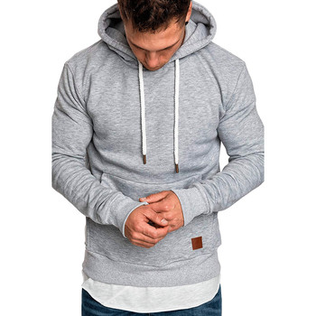 Hoodies Pullover Solid Sportswear Sweatshirt for Men