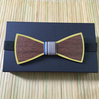 new arrival Mens Bow Tie Wooden Bowknots Neck Wear Personality Groom Wedding Bowties Solid Wood Bow Ties Cravat For Mens