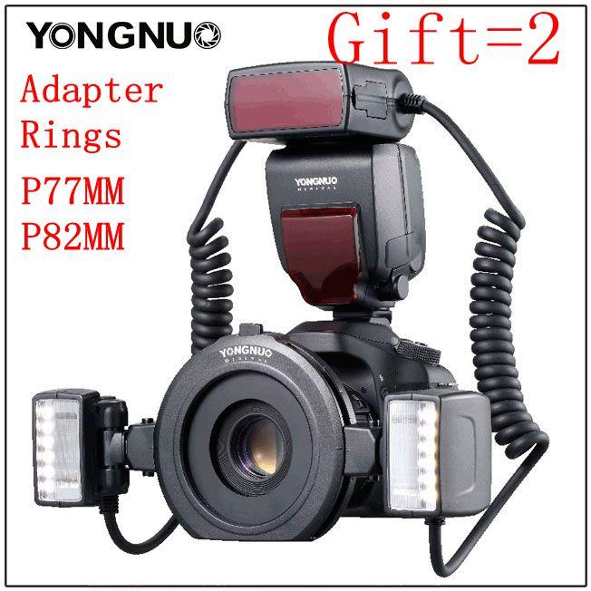 Yongnuo YN24-EX YN24EX ETTL Macro-photo Flash Speedlite per Canon con Doppia Testa Flash-luce per Canon EOS 5 DIII 7DII 80D 750D