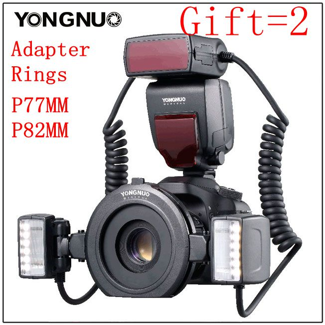 Yongnuo YN24-EX YN24EX ETTL Macro-photo Flash Speedlite pour Canon avec Double Tête Flash-lumière pour Canon EOS 5 DIII 7DII 80D 750D