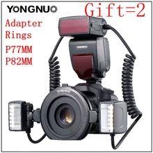 Yongnuo YN24-EX YN24EX ETTL makro-lampy błyskowej speedlite do canona z podwójną głowicą Flash-światło dla Canon EOS 5DIII 7DII 80D 750D cheap CN (pochodzenie)