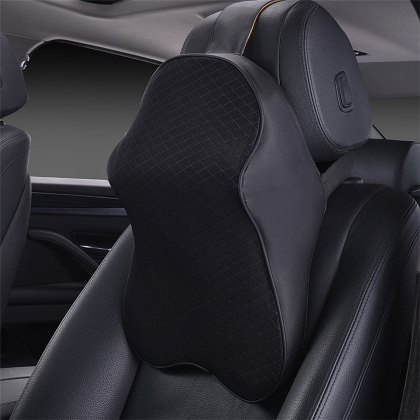 1 pcs Space Cotton Breathable Car Headrest Seat Head Neck Rest Massage Memory Foam Cushion Neck Guard Protection Rest Pillows все цены