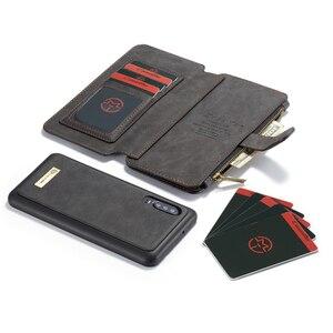 Image 2 - Portfel wielofunkcyjny etui na telefony dla Huawei P30 Lite P30 Pro Case Zipper odwróć skórzana pokrywa magnetyczna dla Huawei Mate 20 Pro przypadku