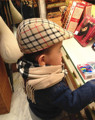 New Arrival Cheap Cute Boys Toddler Flax Cap Newsboy Ivy Hat Classic Casual Beret Plaid Hats Free Shipping