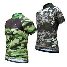 Muškarci Camouflage Biciklizam Jersey Breathable Biciklizam Wear MTB Biciklizam Nositi Racing Tops OutDoor Sport Bike Biciklizam Odjeća Majice