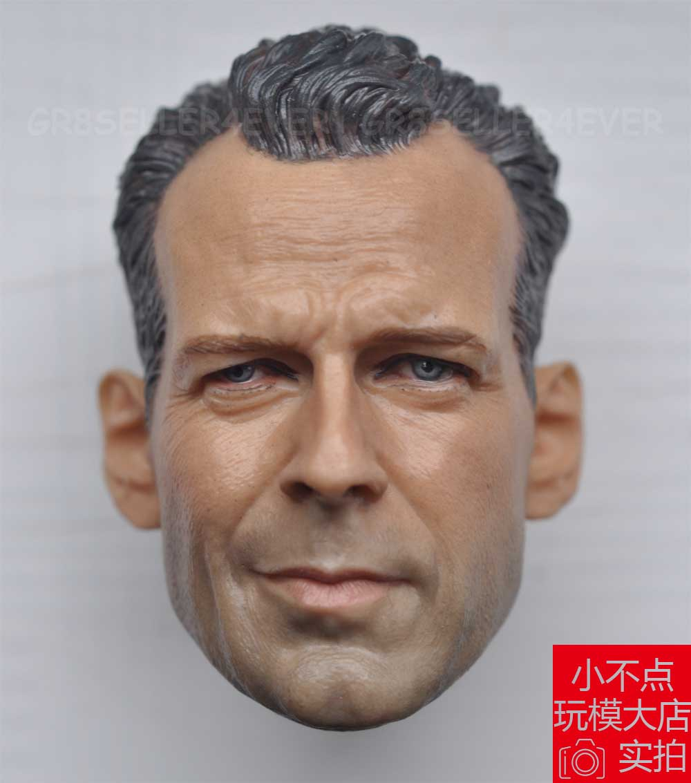 1//6 Scale Bruce Willis Head Sculpt John Mcclane Die Hard Kit Bashing unpainted
