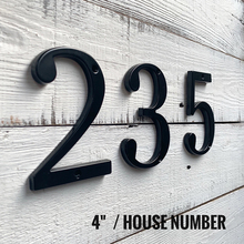 Black 4 101mm Height House Number Door Address Number Digits Zinc Alloy Screw Mounted Big Mailbox Address Sign #0-9 plastic sliver house number 70mm 0 1 2 3 4 5 6 7 8 9 plaque number house hotel door address digits sticker plate sign